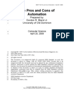 The Pros and Cons of Automation