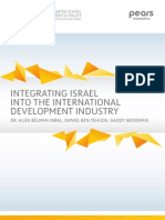 Integrating Israel Into the International Development Industry