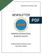 KIBS Newsletter Oct.2012