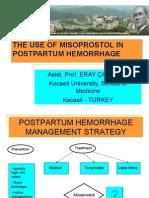 Misoprostol in postpartum hemorrhage