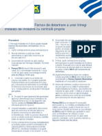 Procedura 5 - Procedura Fernox de Detartrare a Unei Instalatii