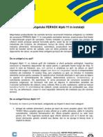 Procedura 6 - Procedura Fernox de Utilizarea a Antigelului Alphi 11