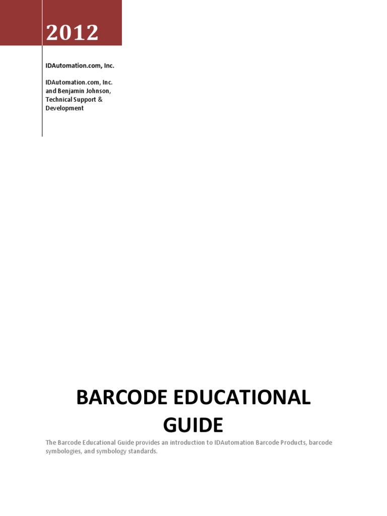 barcode-educational-guide pdf | Barcode | Universal Product Code