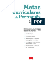 Metas Curriculares de Portugues