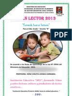 Plan Lector Dora. 2013