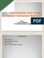 Manifestasi Oral Pada Pasien Diabetes Mellitus