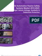 World Automotive Passive Safety Systems Market 2013-2023