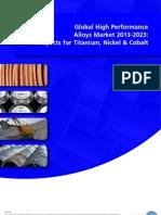 Global High Performance Alloys Market 2013-2023