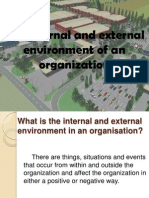 The Internal and External Environment of an Organization