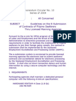 MC 10-Guidelines on the E-Submission of Contracts of Filipino Seafarers