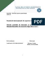 Metode contabile de întocmire şi prezentare   a Situaţiei fluxurilor de trezorerie - IAS 7. CURS VICTORIA BOGDAN