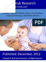 Pediatric Vaccines Market, Doses, Immunization, Cases and Forecast Worldwide Analysis