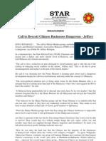 Call to Boycott Chinese Businesses Dangerous - Jeffrey-21May2013