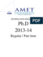 Www.ametuniv.ac.in Amet Attachment Research Phd Regular