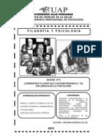 TEMA 5 CORRIENTES FILOSÓFICAS EN LA PSICOLOGÍA