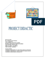 Proiect de Lectie Matematica