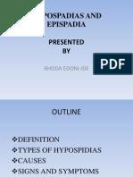 Hypospadias and Epispadia