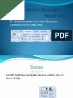 Menú diseño de pagina de Word 2007