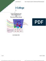 Course Handbook for the MSc in Bioinformatics and Systems Biology - Bioinformatics MSc CourseHandbook_2012