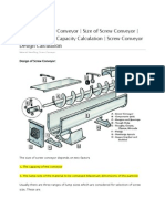 Screw Conveyor Design