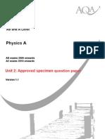 Physics u2 Qp Specimen