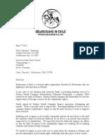 Letter to Deutsche bank