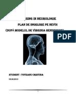 31248400 Toteanu Cristina Plan de Nursing Neurologie Plan de Ingrijire