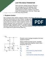 Penstabilan Titik Kerja Transistor