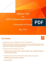 CNN-IBN_Opinion Poll Report on UPA-II Performance in Fourth Year.pptx