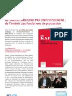 Fondations de production - Christian Saint-Etienne et Robin Rivaton