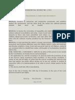 PD 1754 - Prescribing a Condition for Amnesty