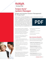 Avaya Aura System Manager - Fact Sheet