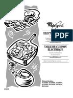 Whirlpool Gold GJC3034RB Ceramic CookTop - Manual
