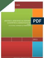 259 - AVIONICS, AEROSPACE AND DEFENSE ACRONYMS AND ABBREVIATIONS; Januar 2011