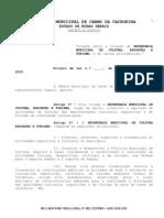 Projeto de lei nº 03-09- cria secretaria de cultura