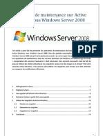 Opérations de maintenance sur Active Directory