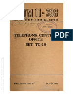 Tm 11-338 Telephone Office Central Office Set TC-10