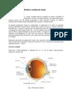 Biofizica analizorul vizual