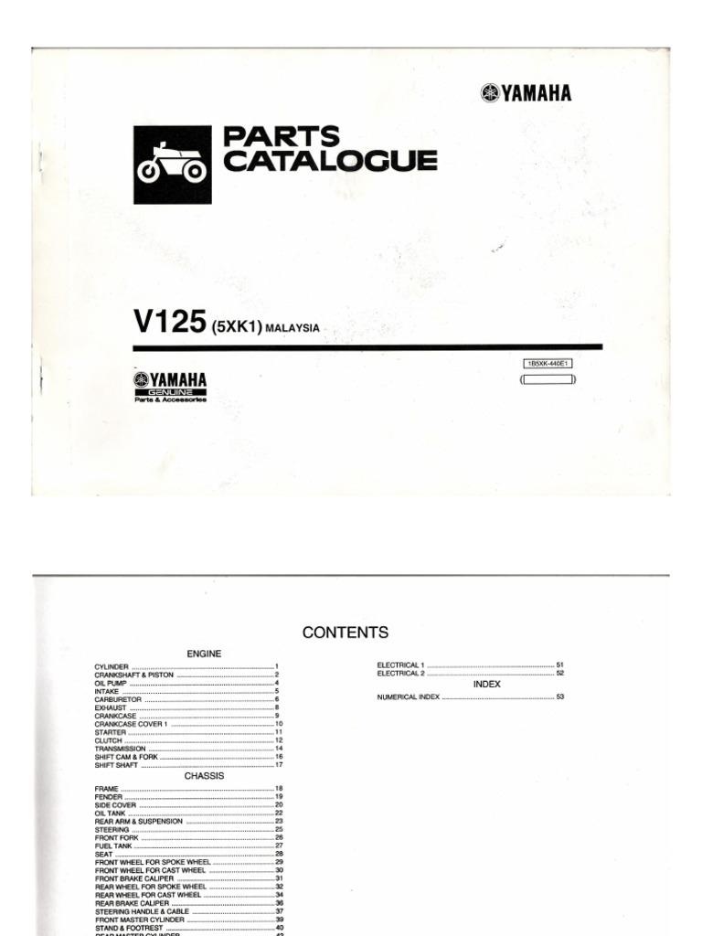 125z part catalog 2004 rh scribd com Yamaha Rhino 450 Wiring Diagram Yamaha XS1100 Wiring-Diagram