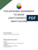 Color Wheel Experiment