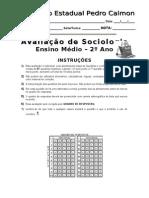 Avaliação objetiva sociologia 2º ano