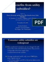 Who Benefits from Utility Subsidies?