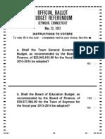 Seymour Referendum Ballot May 23