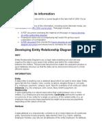 Developing ERD