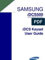 Samsung iDCS Keyset User Guide