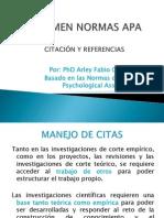 NORMAS_APA PRESENTACIÓN RESUMEN 2012