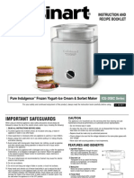 Cuisinart Ice 30 b Manual