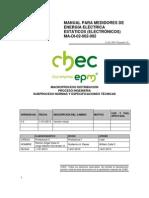 manual para medidores de energia electrica estáticos