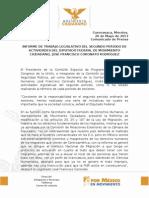 INFORME DE TRABAJO LEGISLATIVO DEL SEGUNDO PERIODO DE ACTIVIDADES DEL DIPUTADO FEDERAL DE MOVIMIENTO CIUDADANO, JOSÉ FRANCISCO CORONATO RODRÍGUEZ
