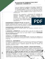 CONVENÇÃO COLETIVA DE TRABALHO 2012 - 2013